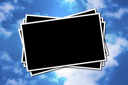 Photographic frame on a sky background Stock Photo - 13885458