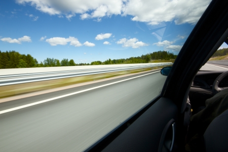 Photo taken inside of fast moving car Stock Photo - 14250049