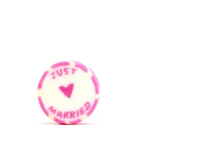 Just married candy isolated on white backgorund Stock Photo - 14250019
