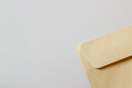 Real envelope corner and epmty space for text Stock Photo - 14371532