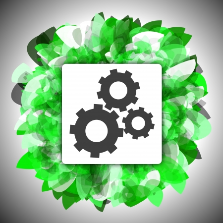 Business solutions wheel on green technology background Stock Photo - 14363754