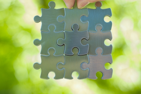 Boss puzzle piece takes the lead. Business concept. Stock Photo - 14414767