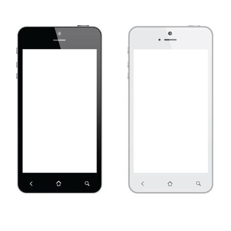Realistische geïsoleerd mobiele telefoon Stock Illustratie