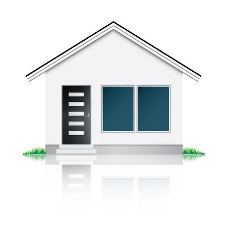 Modern house icon Stock Photo - 17530508