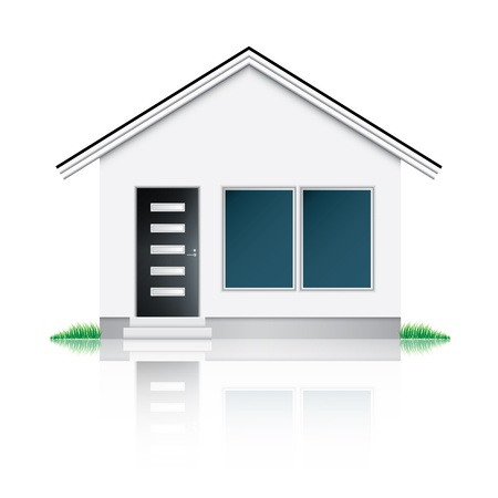 modern house exterior: Modern house icon Illustration