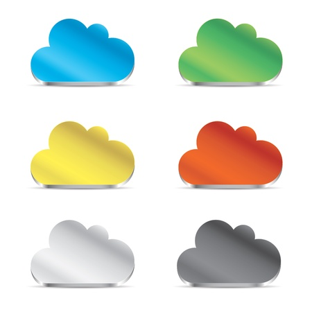 Cloud icon set vector eps10 Stock Vector - 19452292