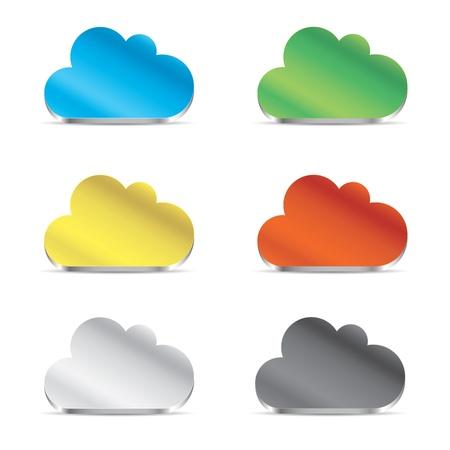 Cloud icon set vector eps10 Stock Vector - 19452292