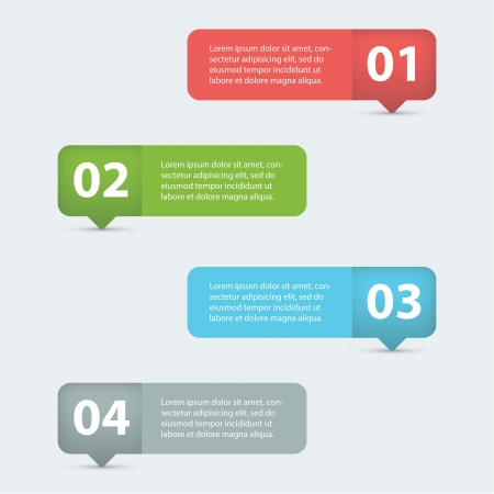 Pretty and clean info graphics options banner  Illustration