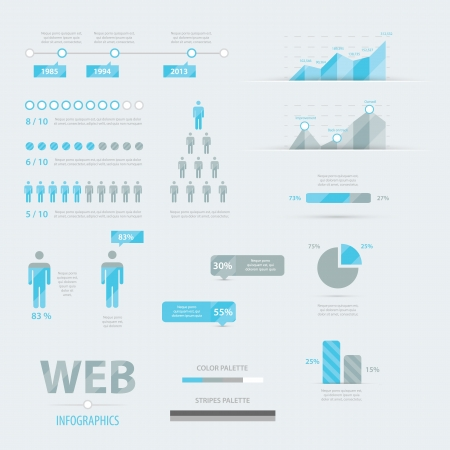 Infographic web business icon set