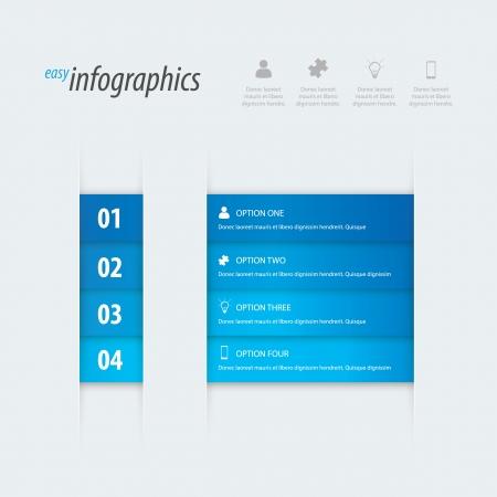 Modern easy infographics. Stock Vector - 19615257