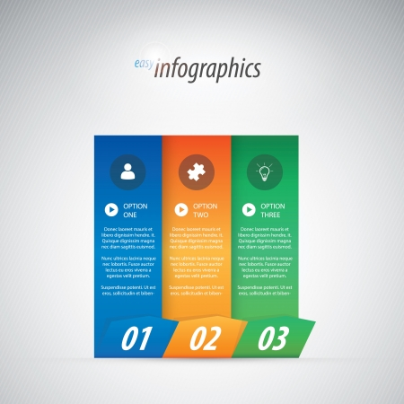Three options infographics illustration Stock Vector - 19615258