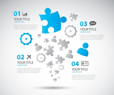 Infographic business options brochure vector illustration Vector