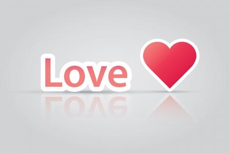Love heart icon vector EPS10 Stock Vector - 19831423