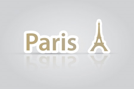 Paris eiffel tower icon vector EPS10 Stock Vector - 19820022