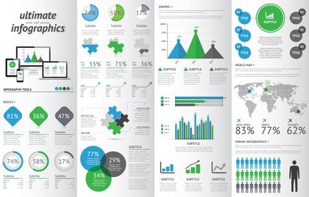 Elektronik cihazlar Modern infografik seti.