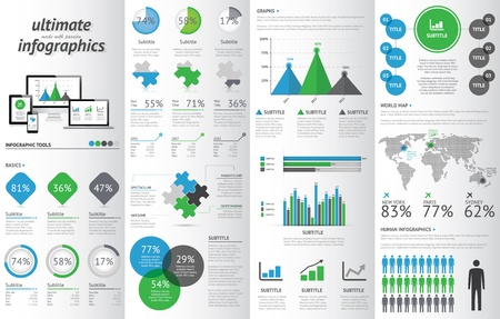 responsive design: Modern infographic set with electronic devices.