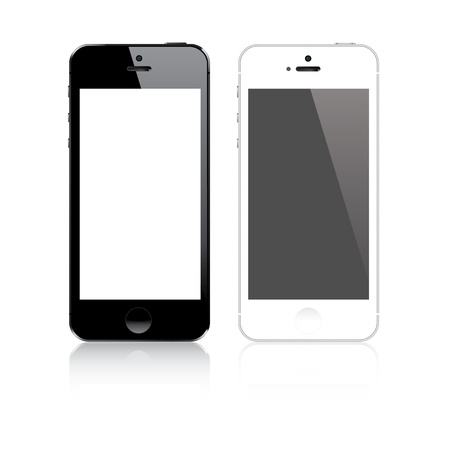 Highly detailed responsive smart phone mockup vector Vector