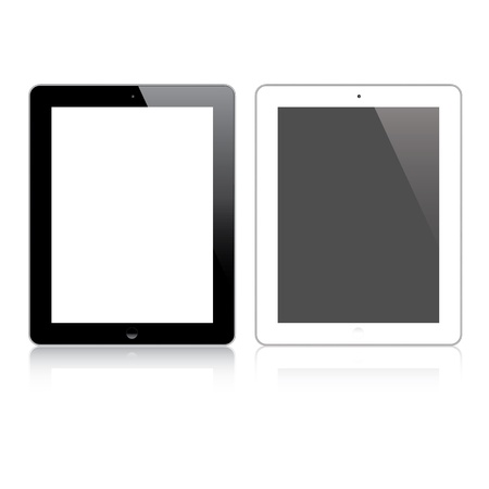 Highly detailed responsive tablet  Vector