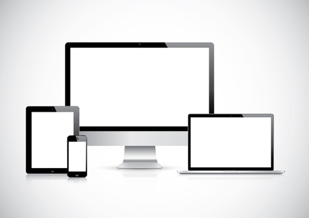 Top quality electronic devices empty screen pack  Stock Vector - 20821888