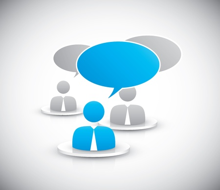 People discussing together icons vector Stock Vector - 21019779