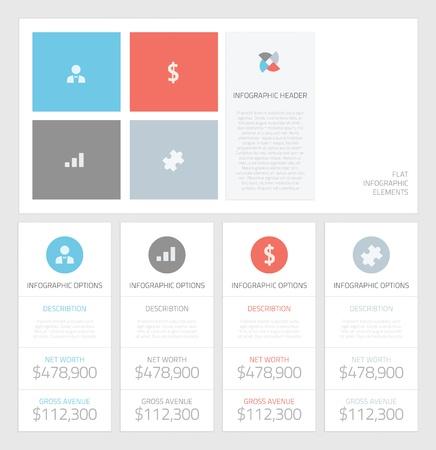 Minimal info graphic flat business elements vector illustration Stock Vector - 21487525