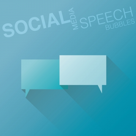Minimal flat social media speech bubbles with shadow vector Vector