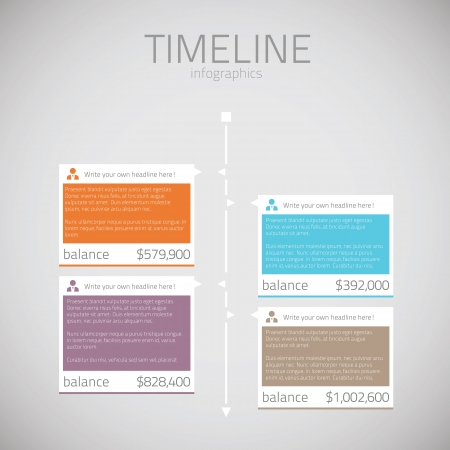 text box: Timeline infographic template vector