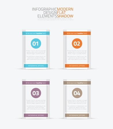 Flat infographic element options vector