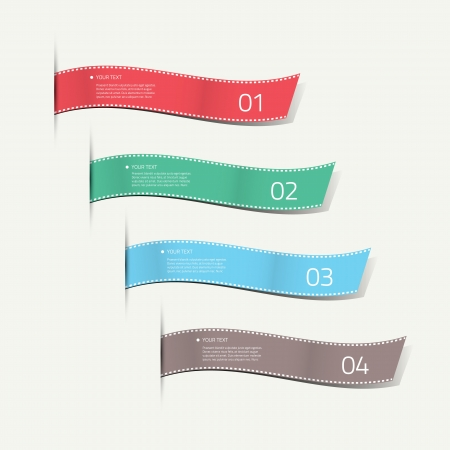 Infographic silk labels decorative Vector