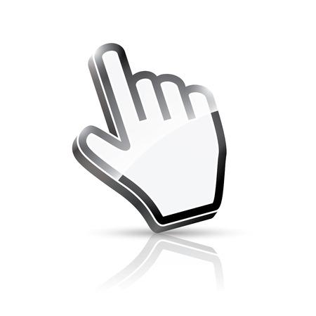3d vector hand cursor Stock Vector - 23123797