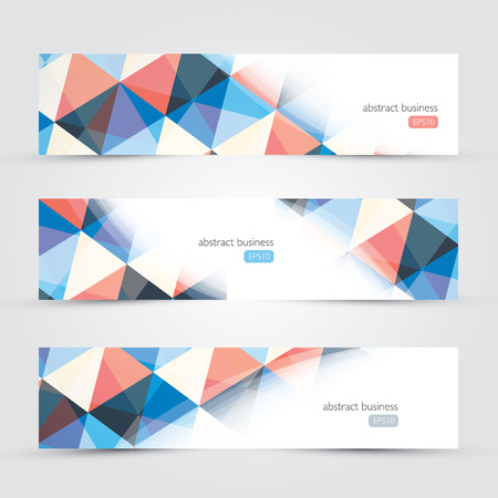 business background: Three abstract background website copyscpace business backgrounds vector