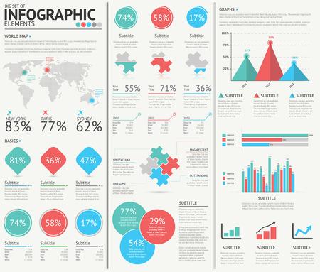 Infographic web tasarım, vektör öğeleri