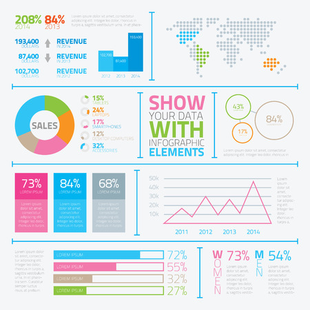 Modern infographic elements in flat style vector eps10