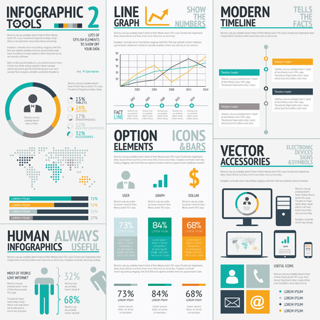 Infographic elements big set vector EPS10 Vector