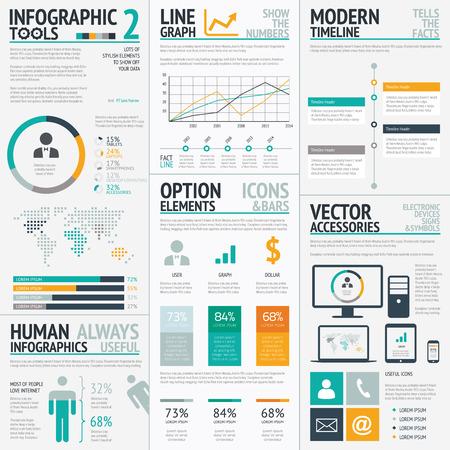 �conomie verte: �l�ments infographiques set grand vecteur EPS10 Illustration