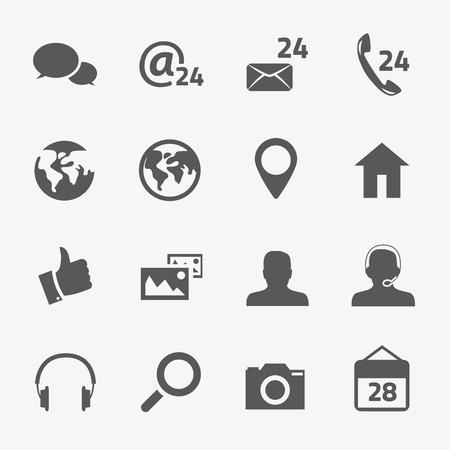 Social media and connection vector icons set Stock Vector - 24226688