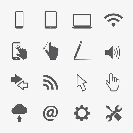Computer vector icons set Vector