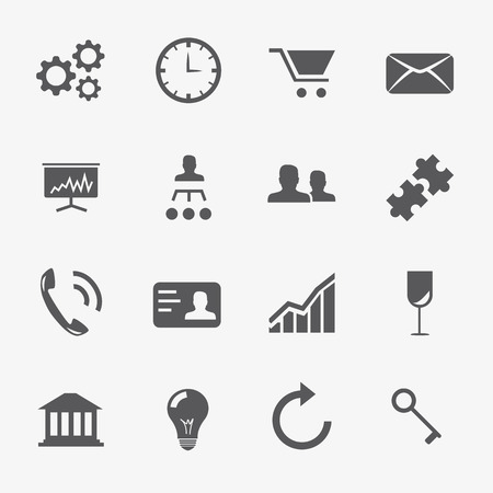Business and strategy icons vector set Vector