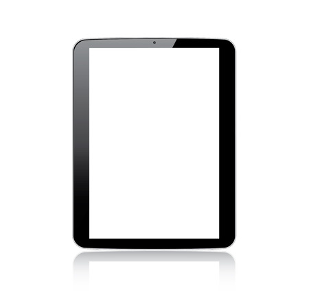 Modern responsive tablet computer vector - Illustration isolated on white Stock Vector - 24539852