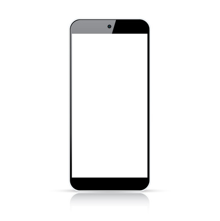 Modern responsive smartphone vector - Illustration isolated on white Illustration