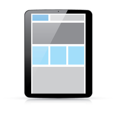 css: Web concetto di codifica - html e css reattivo web design in compresse