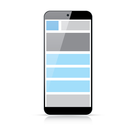 Web coding concept - responsive html and css web design in smart phone  Stock Vector - 24750925