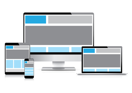 Fully responsive web design with electronic devices