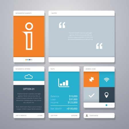 mobile website: User interface  ui  and infographic vector elements
