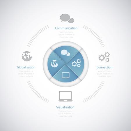 Modern business vector illustration infographic option elements eps10 Stock Vector - 24989304