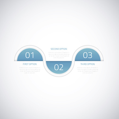 Modern business timeline vector infographic option elements Stock Vector - 25332417