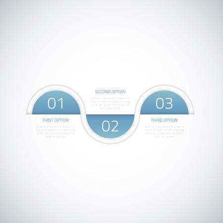 Modern business timeline vector infographic option elements Vector