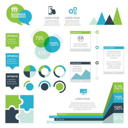 Modern set of business infographic vector elements Vector