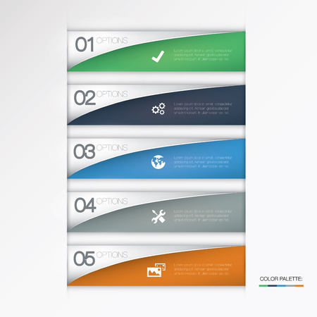 Vector infographic options Illustration