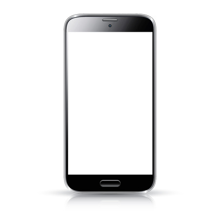 Smartphone realistic vector illustration isolation  Modern style mobile phone  Illustration